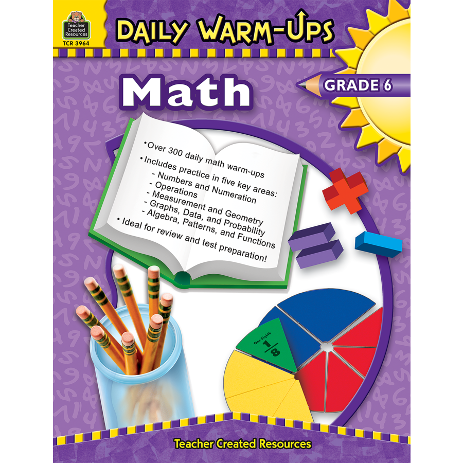 Daily Warm Ups Math Grade 6 Tcr3964 Teacher Created Resources