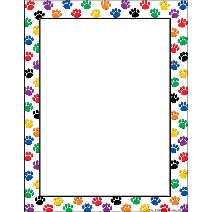 Colorful Paw Prints Computer Paper - TCR4769 | Teacher Created Resources