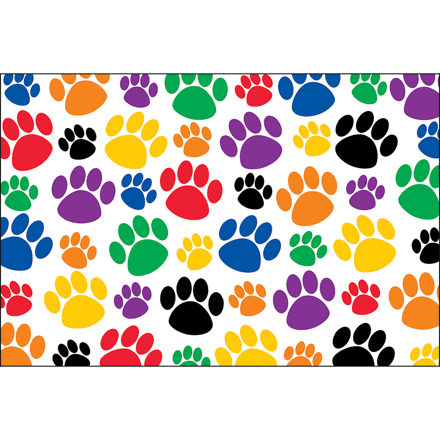 TCR4799 Colorful Paw Prints Postcards Image  sc 1 st  Teacher Created Resources : paw print paper plates - pezcame.com