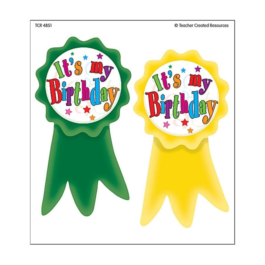 Birthday Ribbons Wear 'Em Badges - TCR4851