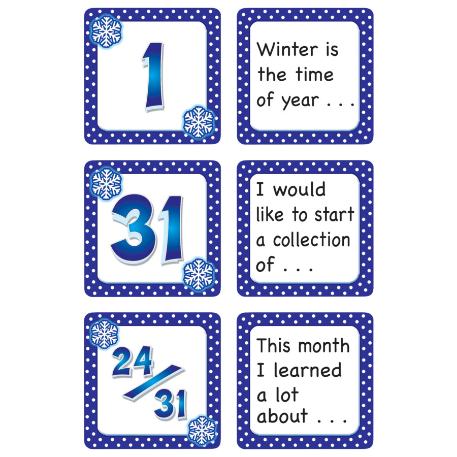 January Polka Dots Calendar Days/Story Starters - TCR5075   Teacher