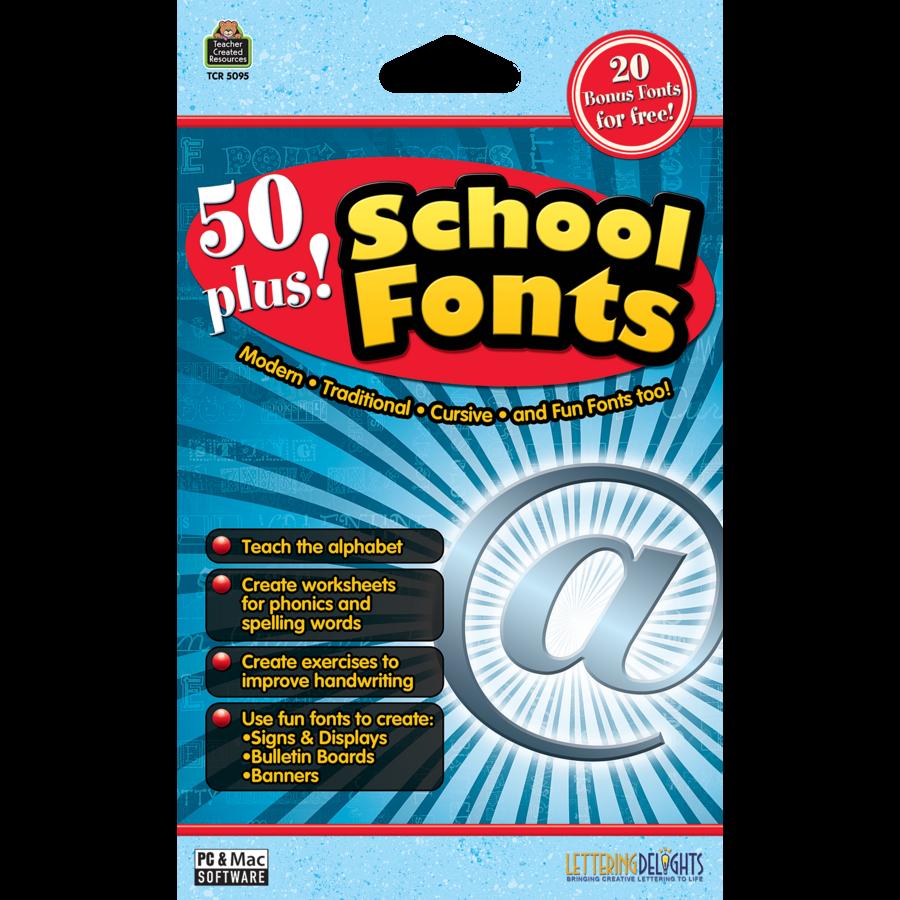 50 Plus School Fonts - TCR5095 | Teacher Created Resources