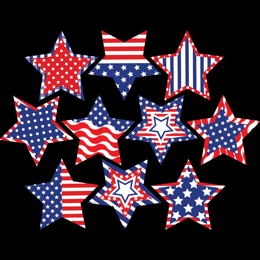 Patriotic Fancy Stars Accents - TCR5285   Teacher Created ... (900 x 900 Pixel)