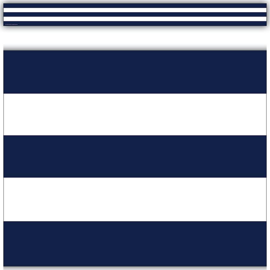 1699ff98dba78 Navy Blue & White Stripes Straight Border Trim - TCR5289   Teacher ...