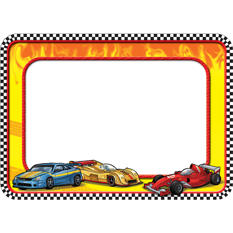 Race Cars Name Tags Tcr5310 Teacher Created Resources