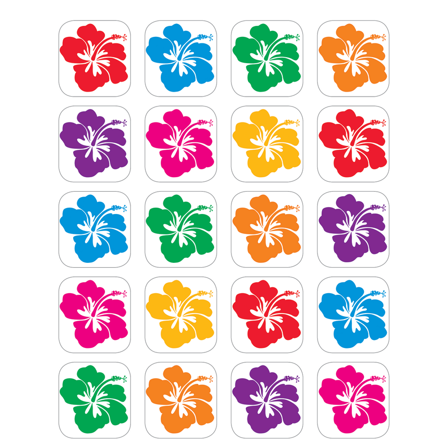 Hibiscus Stickers Tcr5368 Teacher Created Resources