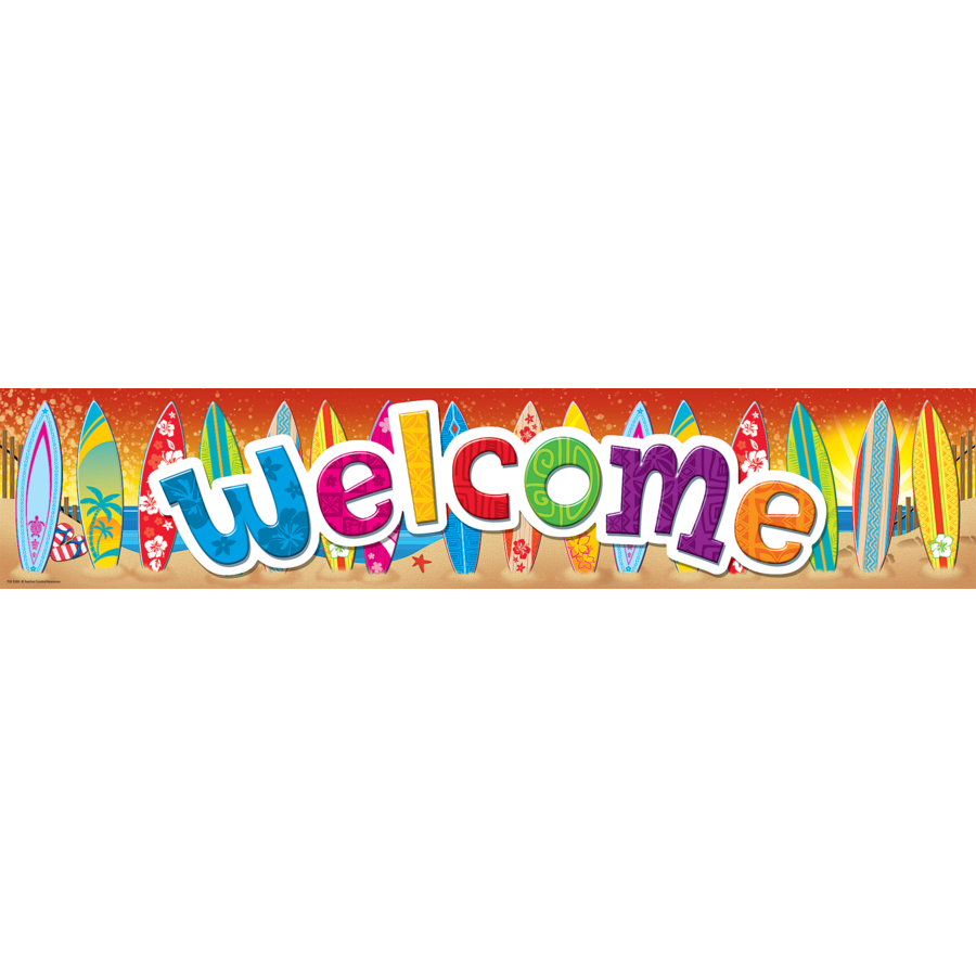 Surf's Up Welcome Banner - TCR5388