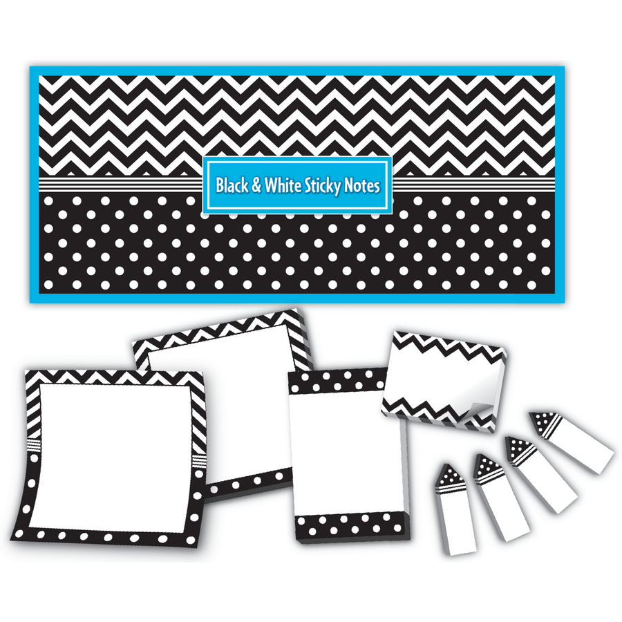 black white sticky notes tcr5834 teacher created resources