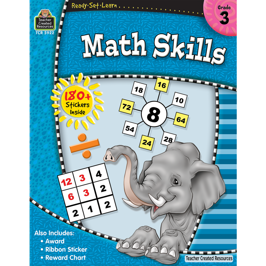 Ready-Set-Learn: Math Skills Grade 3 - TCR5922 | Teacher Created ...