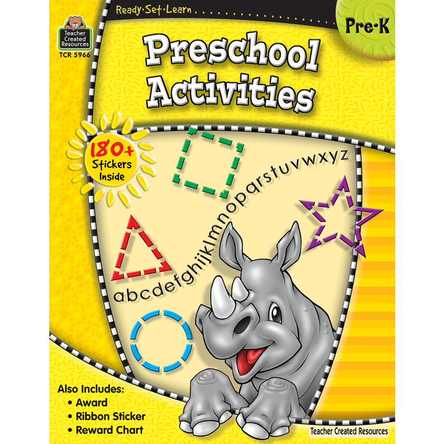 Workbooks prek workbooks : Ready-Set-Learn: Preschool Activities - TCR5966 | Teacher Created ...