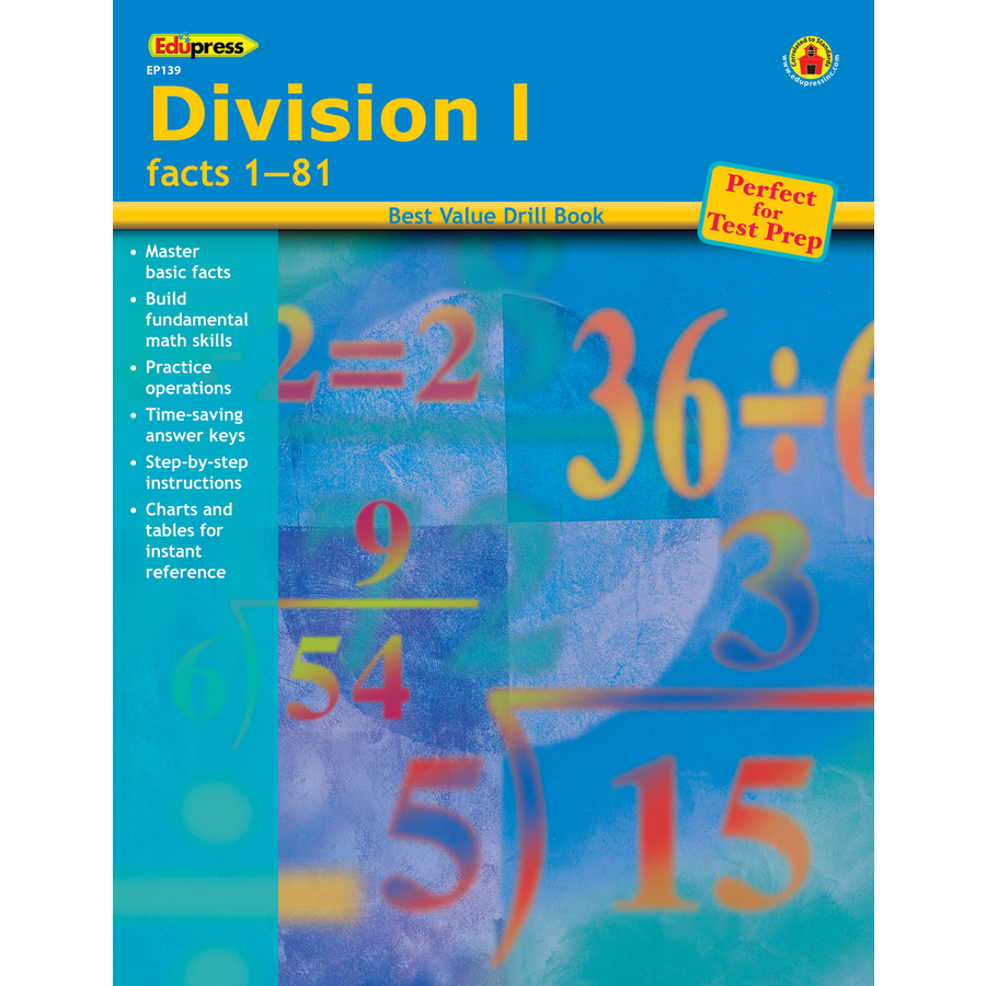 Best Value Drill Book Division 1 - TCR60139   Teacher Created Resources
