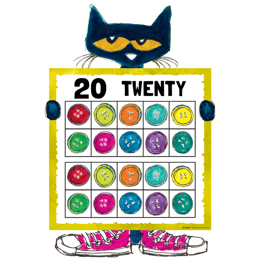 pete the cat numbers 0 20 bulletin board tcr62005 teacher