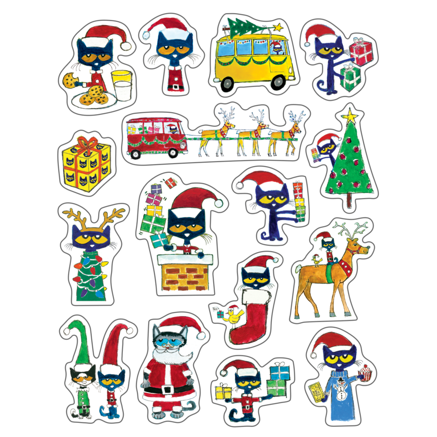 Christmas Stickers.Pete The Cat Christmas Stickers