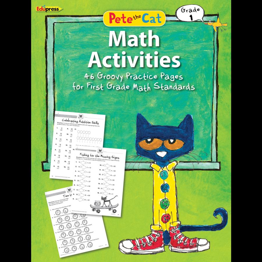 Pete the Cat Math Workbook Grade 1 - TCR63514   Teacher Created ...