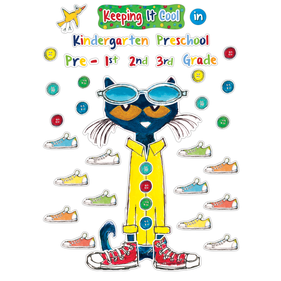 pete the cat keeping it cool in bulletin board tcr63922