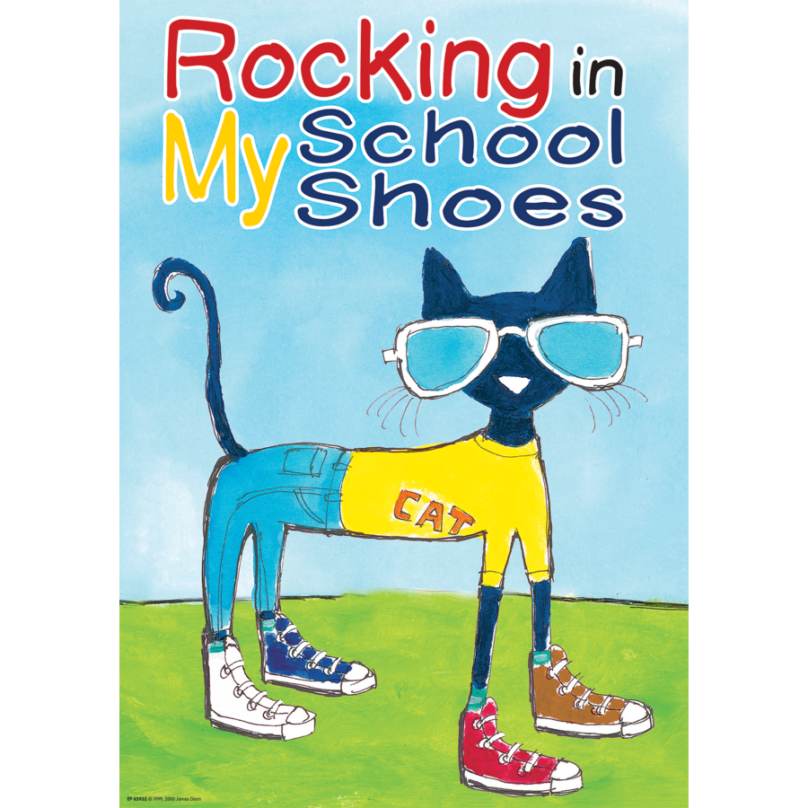 pete the cat rocking in my school shoes positive poster tcr63932