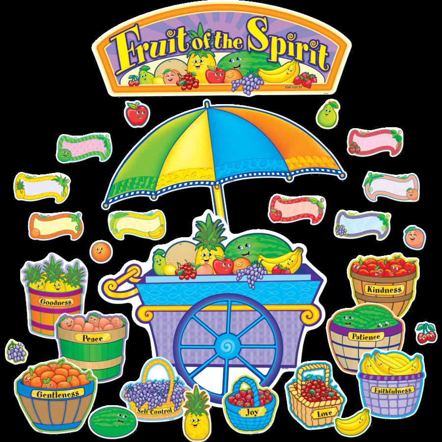 Fruit Of The Spirit Bulletin Board Display Set Tcr7038
