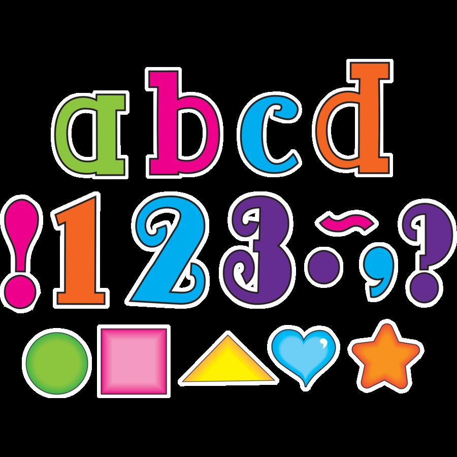 TCR75256 Multicolor 5 Lowercase Fancy Font Letters Image