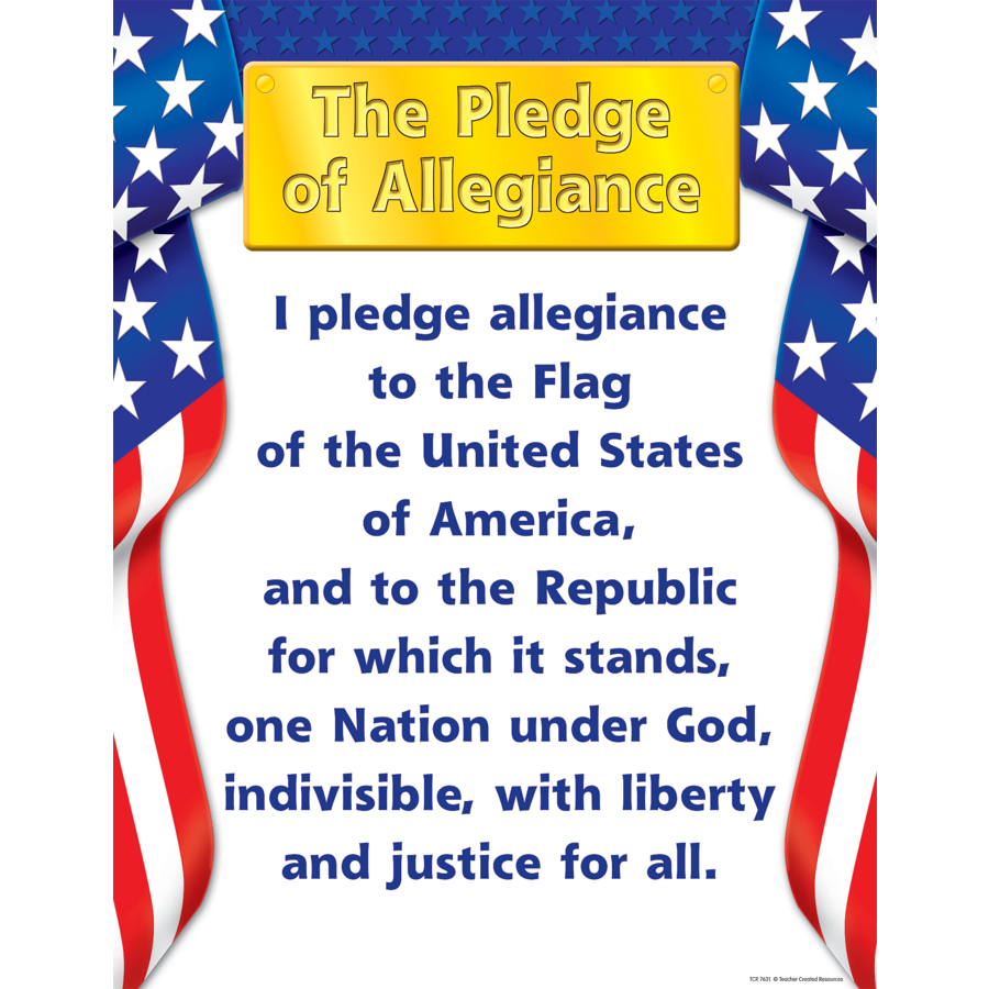 graphic regarding Pledge of Allegiance Printable known as Pledge of Allegiance Chart