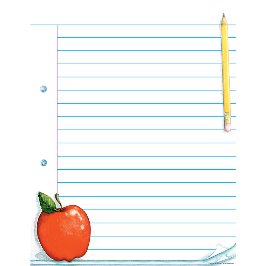 Tcr7683 Notepad Paper Lined Chart Image