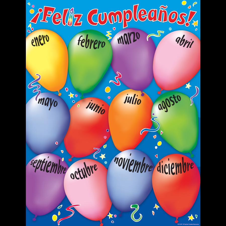 Happy Birthday (Spanish) Chart - TCR7691