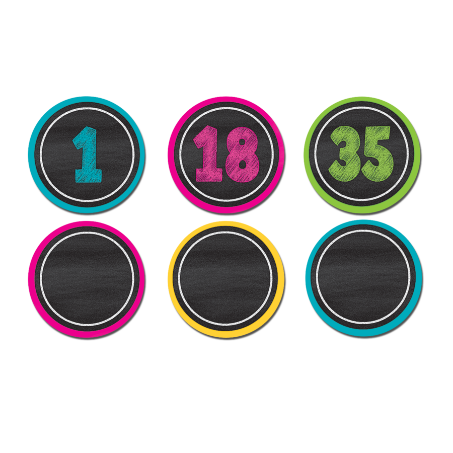 Chalkboard Brights Numbers Magnetic Accents Tcr77280
