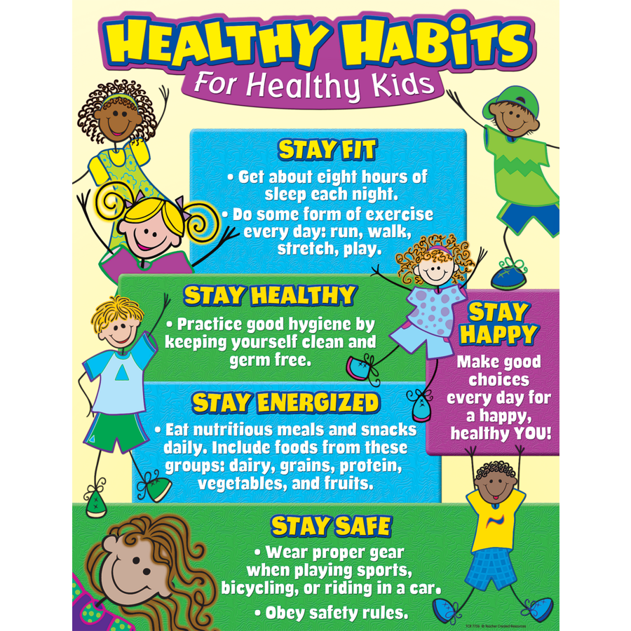 Healthy Habits for Healthy Kids Chart - TCR7736 | Teacher Created Resources