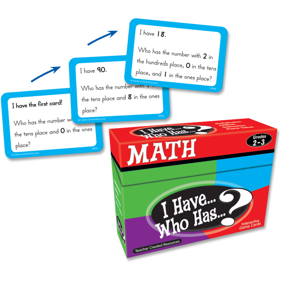 I Have, Who Has Math Game Grade 2-3 - TCR7818 | Teacher Created ...