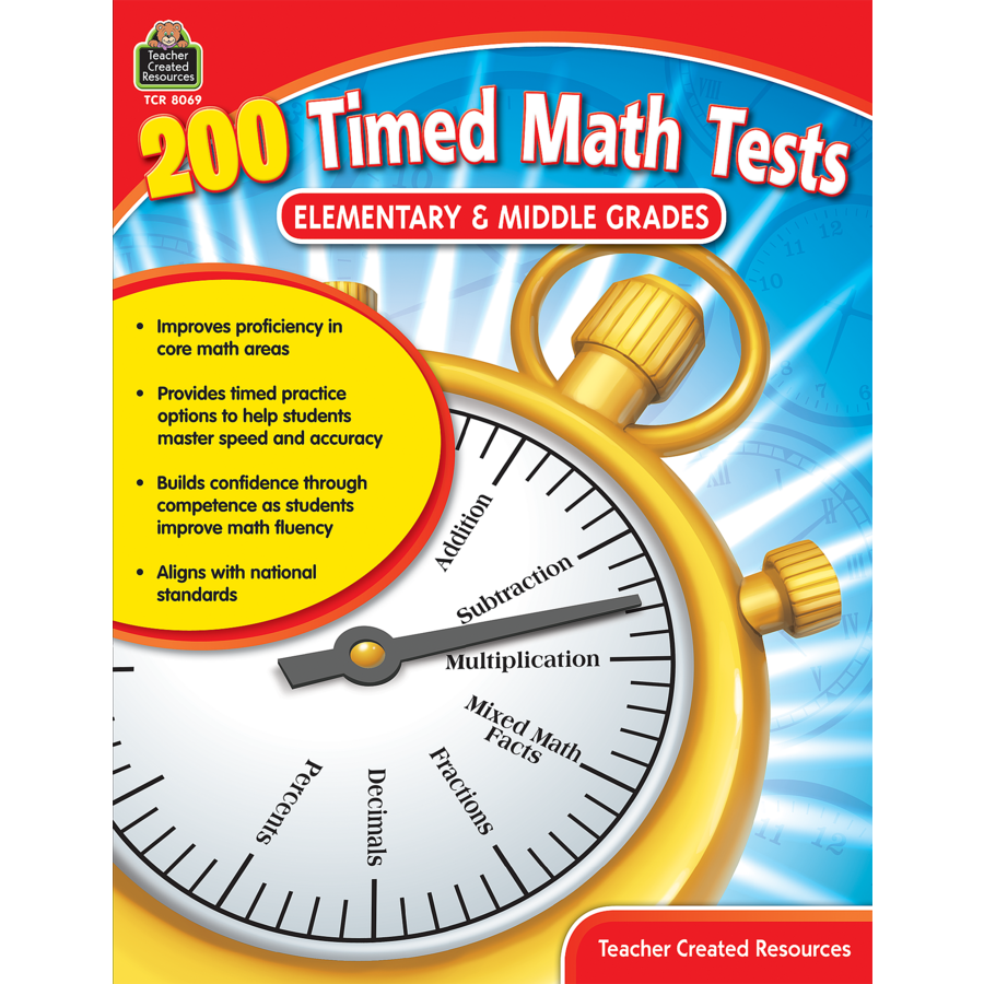 200 Timed Math Tests: Elementary to Middle Grades - TCR8069 ...