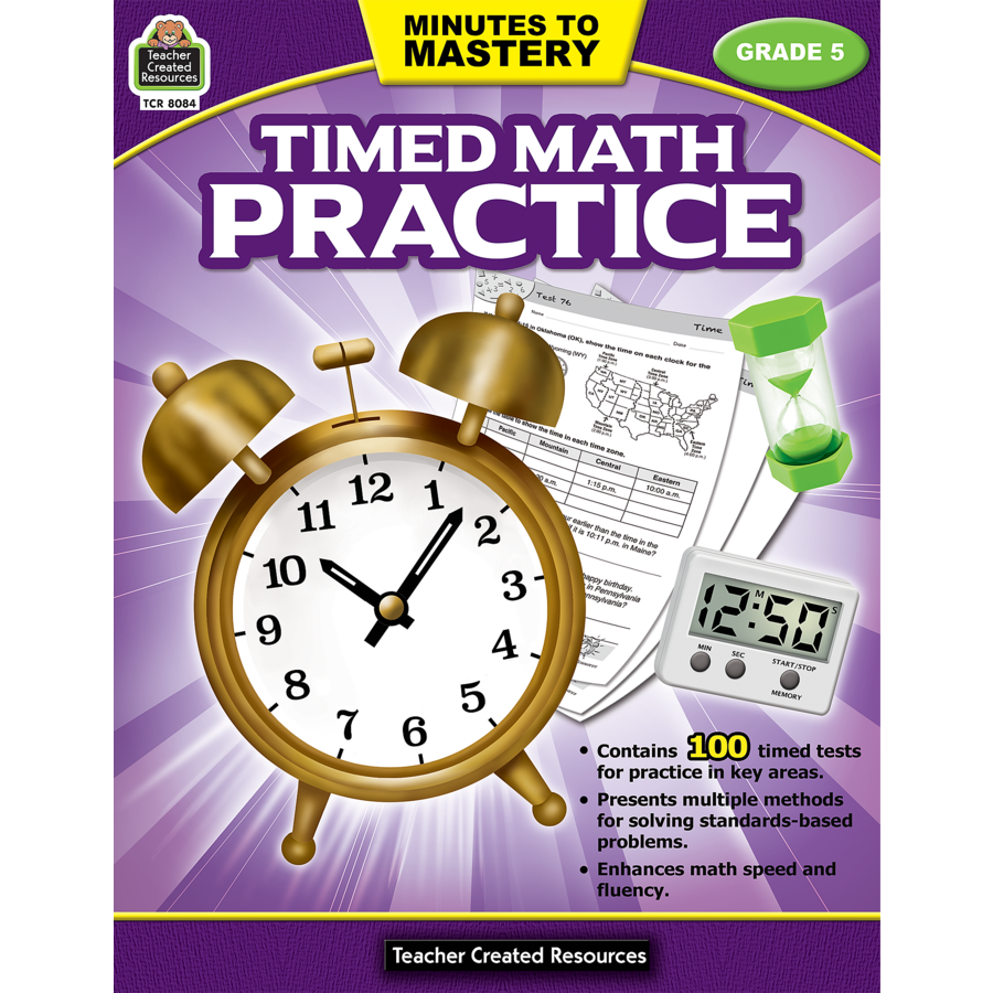 Minutes to Mastery - Timed Math Practice Grade 5 - TCR8084   Teacher ...