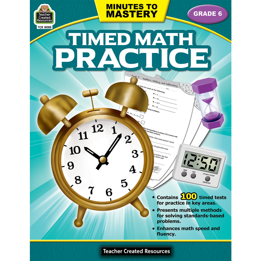 Minutes to Mastery - Timed Math Practice Grade 6 - TCR8085 | Teacher ...