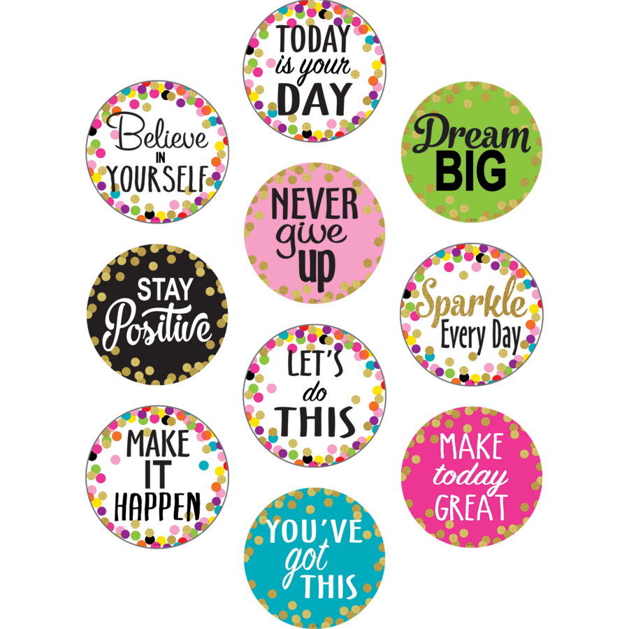 confetti positive sayings accents tcr8890 teacher created resources