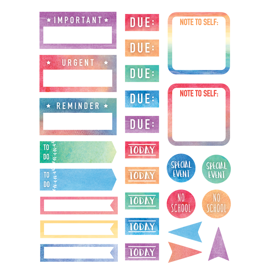 Tcr8975 watercolor planner stickers image watercolor planner stickers alternate image a