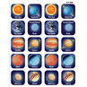TCR1800 Planets Stickers