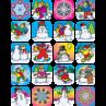 TCR1804 Winter Stickers