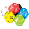TCR20806 12 Sided Dice 6-Pack