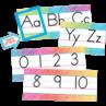 TCR3052 Colorful Scribble Alphabet Line Bulletin Board
