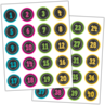 TCR3841 Chalkboard Brights Numbers Stickers