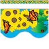 TCR4133 Sunflowers Scalloped Border Trim