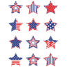 TCR5336 Patriotic Stars Mini Accents