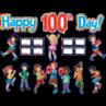 TCR5519 Fireworks Happy 100th Day Bulletin Board Display Set