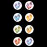 TCR5911 Flip Flops Mini Stickers