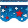 TCR63173 Patriotic Stars Scalloped Border Trim
