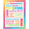 TCR7524 Colorful Scribble Our Classroom Rules Chart