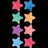 TCR8897 Watercolor Stars Mini Stickers