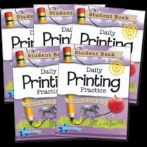 Daily Printing Practice Grades K-2 Bundle: Student Book 5-Pack