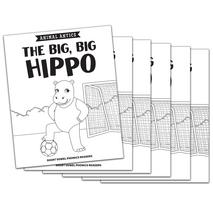 The Big, Big Hippo - Short i Vowel Reader (B/W version) - 6 Pack