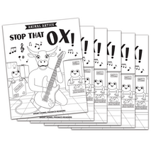 Stop That, Ox! - Short o Vowel Reader (B/W version) - 6 Pack