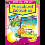 Preschool Activities Write-On Wipe-Off Book