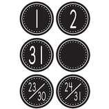 Black & White Crazy Circles Calendar Days